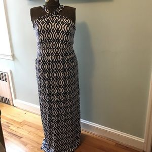 Vineyard Vines navy ikat maxi dress, size XL